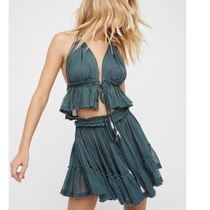 Free People Bralette and skirt set XS